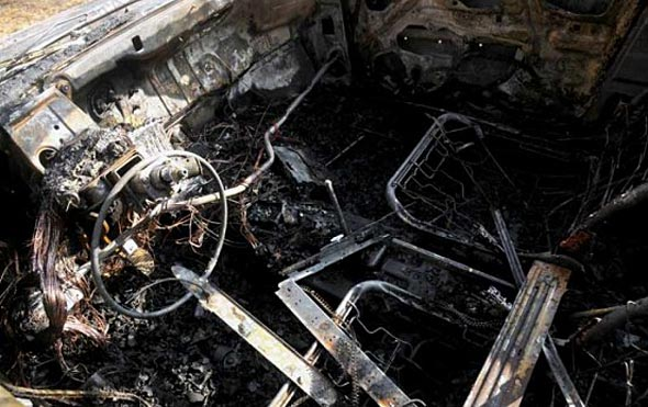 Автомобил се запали в Царево