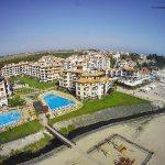 Плажът на Оазис от въздуха