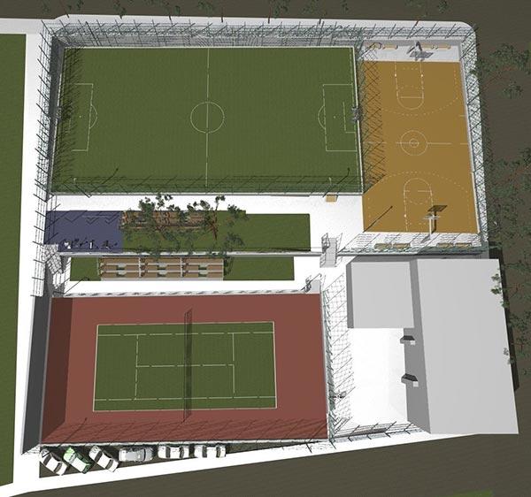 Ахтопол с ново игрище за волейбол и баскетбол
