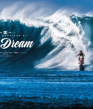 Роби Мадисън е първият човек, сърфирал с мотор по вълните.