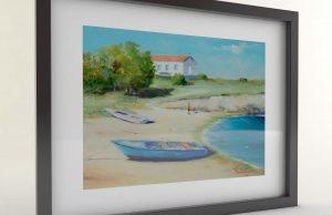Тончо Тончев - картина Плажът при Старата църква