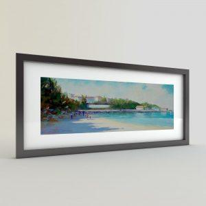 Тончо Тончев - картина Плаж Понтона в Царево
