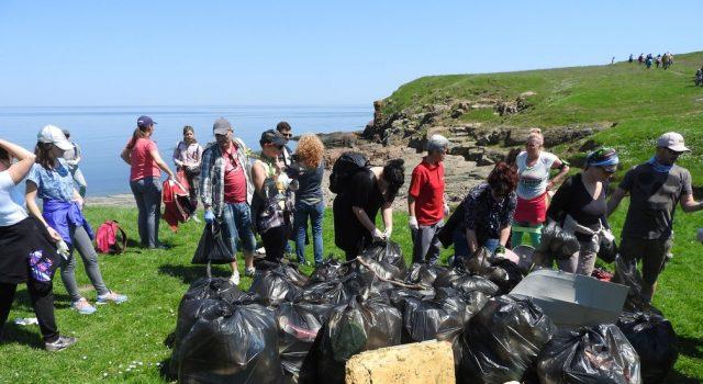 Снимка на фокус, април 2018, Жители и гости на Ахтопол направиха голямо почистване на плажовете в района