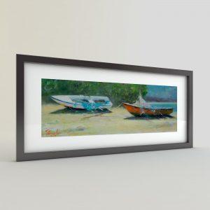 Тончо Тончев - картина Лодки на брега