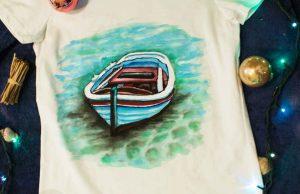 """Дамска тениска """"Лодка"""""""